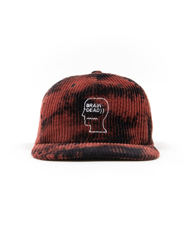 Bleached Cord Logo Head Hat Black 1