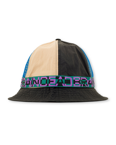 Nigel Color Blocked Bell Bucket Hat Black 1