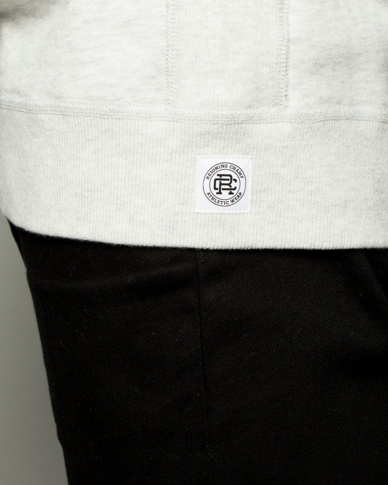 Midweight Terry Side Zip LS Crewneck Heather Ash