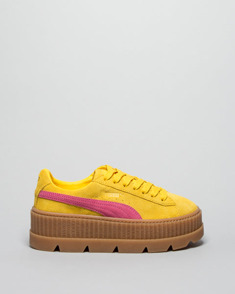 Cleated Creeper Suede WMNS Lemon/Carmine Puma x Fenty Mens Sneakers Seattle