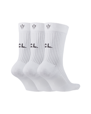 NOCTA NRG Crew Socks 3-Pack White/Black 2