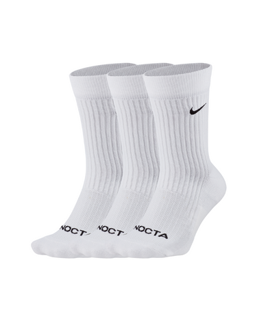 NOCTA NRG Crew Socks 3-Pack White/Black 1