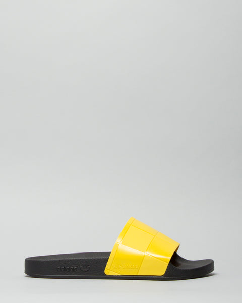 Adilette Checkerboard Core Black/Super Lemon Adidas x Raf Simons Mens Sneakers Seattle