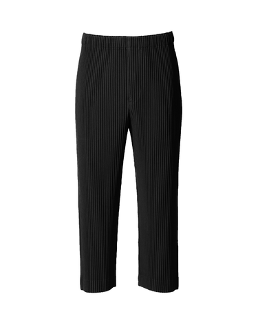 Pleated Cropped Pant Black 1
