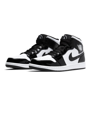Air Jordan 1 Mid SE Black/White (GS) 2