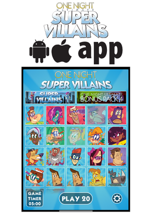 One Night Ultimate Super Villains app