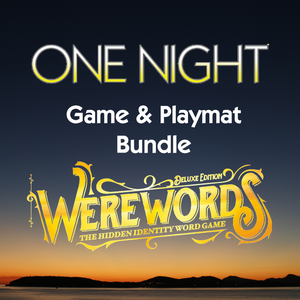 One Night or Werewords Deluxe and Playmat Bundle