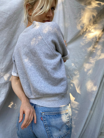 Short Sleeve Grey Sweatshirt