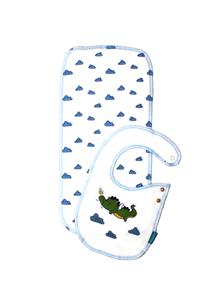 The Lucky Dragon - Bib and Burp Cloth Set