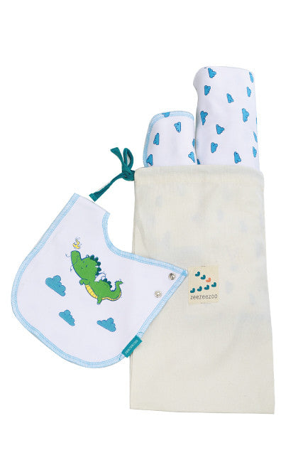 The Lucky Dragon - BeeBeeBoo Gift Set (Multipurpose Blanket, Burp Cloth, Reversible Bib)