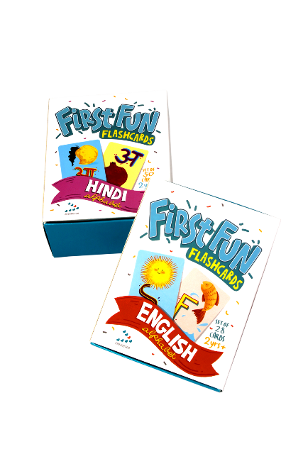 First Fun Flashcard Set: English & Hindi Alphabet