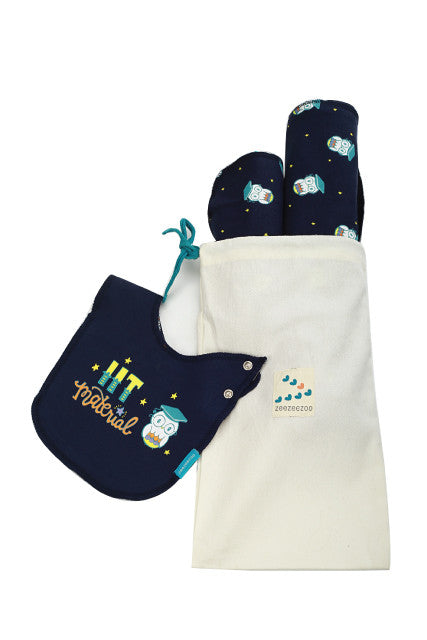 IIT Material - BeeBeeBoo Gift Set (Blanket, Burp Cloth, Reversible Bib)