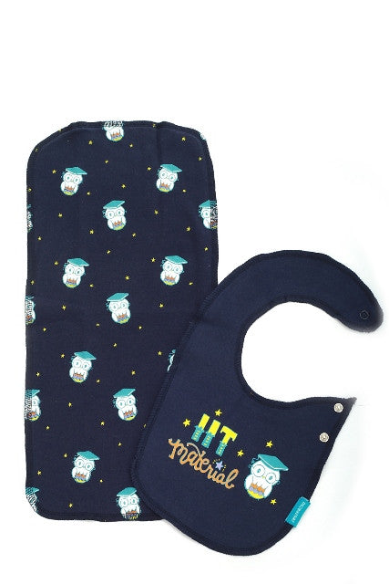 IIT Material - Bib and Burp Cloth Set
