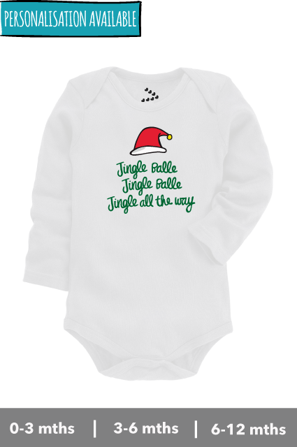 Onesies/Rompers inspired from the 'Jingle Bells' for the christmas