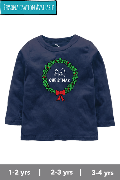 Meri-christmas-navy-fullsleeve-kids-tshirt-inspired-by-Merry-christmas