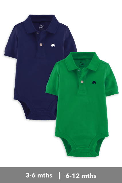 Polo Onesies - Set of 2