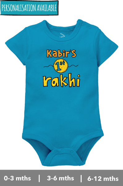 """Name"" First Rakhi - Onesie"