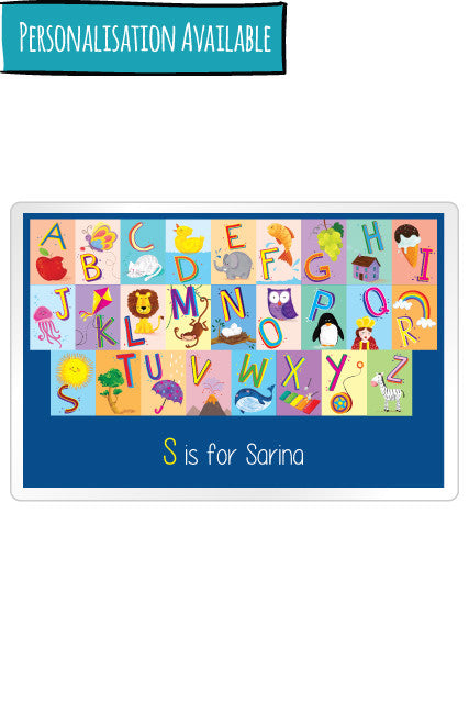 Personalised Placemats English Alphabets, Dinning Accessory Kids