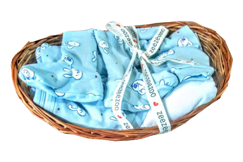 Rabbits Baby Essential Gift Basket (5pc)