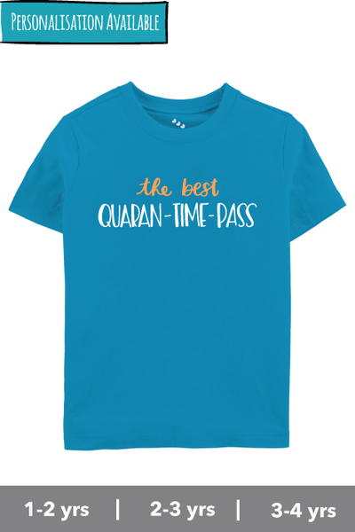 Quaran-time-pass-kids-tshirt-blue
