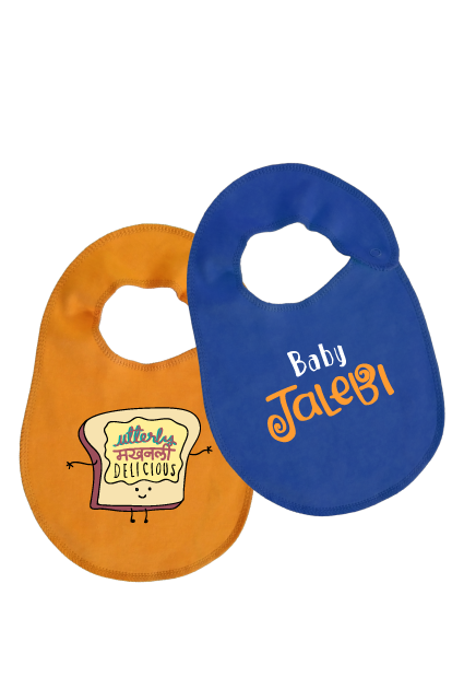 Bib Duo Set ( Utterly Makhanly / Baby Jalebi)