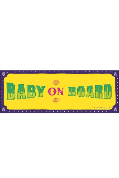 Baby on Board Car Decals - Yellow