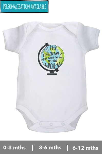 Be the change -  M.K. Gandhi  - Onesie