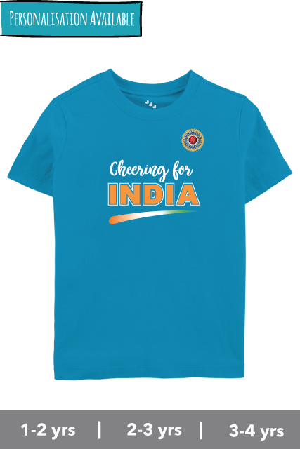 Cheering For India - Cricket Tshirt