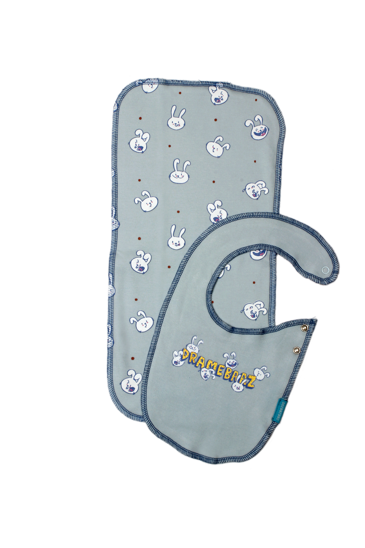 Dramebaaz - Bib and Burp Cloth Set