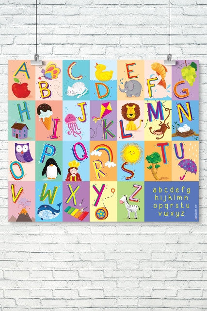 English Alphabet Illustrated Chart