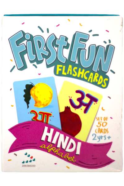 Hindi Alphabet First Fun Flashcards