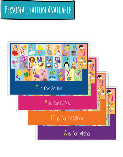 English Alphabet - Personalised Placemats