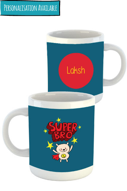 Super Bro Personalised mug gift for brother Zeezeezoo