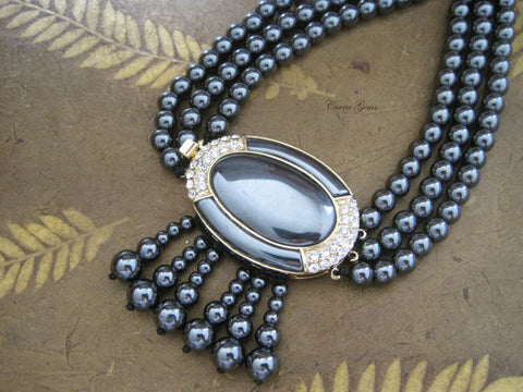 Hematite Necklace, Gemstone Jewelry