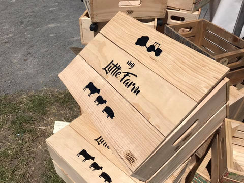 Large Little Farm Organiser Crate
