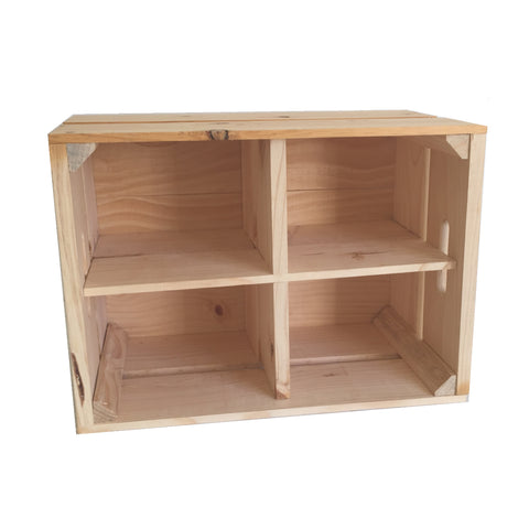 Large Crate with Shelf Divider