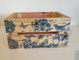 Mini  Crate- Decoupage