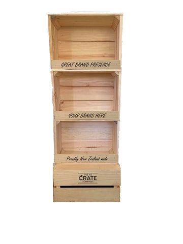 Large Three Crate Display Unit