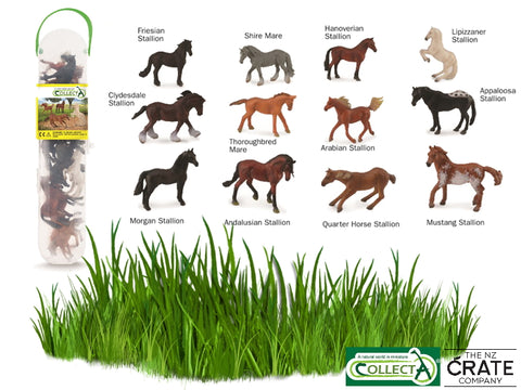 Little Farm Animals: Box of 12 Mini Horses
