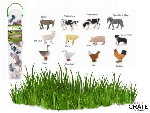 Little Farm Animals: Box of 12 Mini Farm Animals