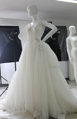 Custom wedding dress front