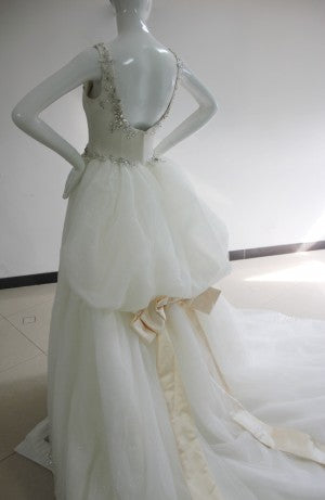 Custom wedding dress back