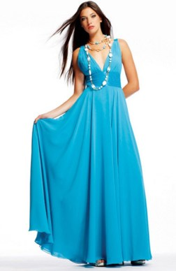 v neck formal dresses