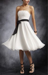 Strapless Empire Waist Bridesmaid Dress with Sash Style Code: 01017 $45