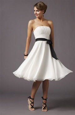 A-Line Strapless Cocktail Dress With Sash Style Code: 01017 US$39.90
