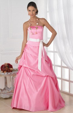 bridesmaid dress with ribbon