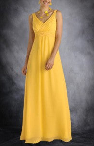 Empire Sleeveless Floor length Bridesmaid Dress with Ruffles Style Code: 02890 $89
