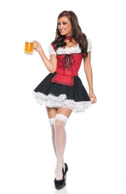 Bar Maid Jersey Multicolored Sets Adult Costume