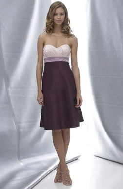 Satin Sleeveless Knee-length Sweetheart A-line Bridesmaid Dress
