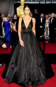 Camila Alves Ball Gown V-neck Sleeveless Evening Wear Style Code: 05380 $184